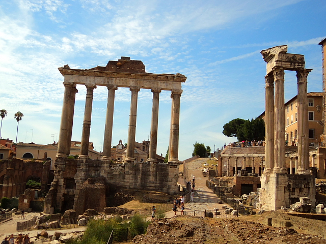 Ancient Roman Forum in Rome, Italy