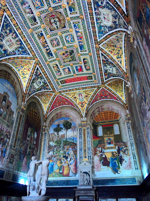 Piccolomini Library inside Siena Cathedral in Siena, Italy