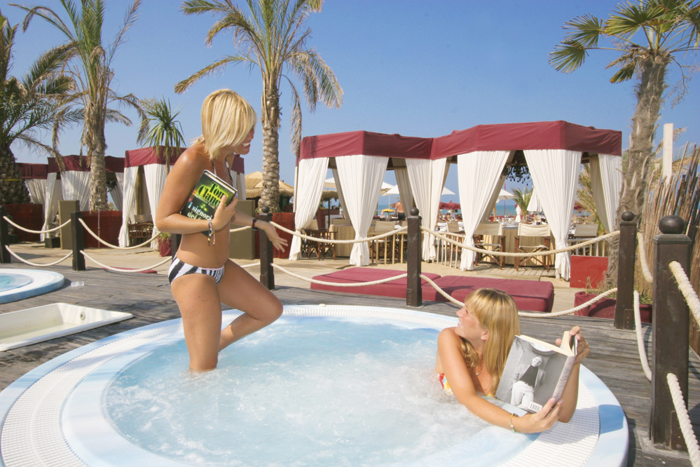 Beach resort in Rimini, Italy